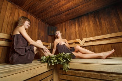 Girls after spa therapy.