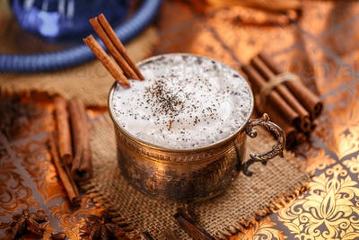 Chai latte spiced black tea