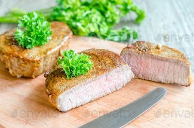 Beef Steak - cross section