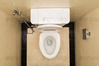 Modern and hygienic toilet bowl with bidet in bathroom