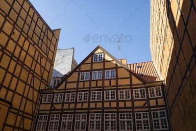 Timber framed building in Copenhagen, Denmark