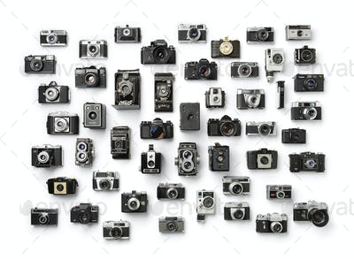 Collection of vintage analog camera's