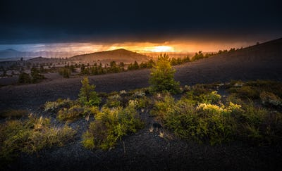 Inferno Cone Overlook Craters of The Moon at Sunset