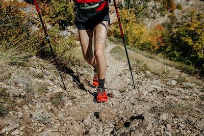 closeup feet  runner athlete