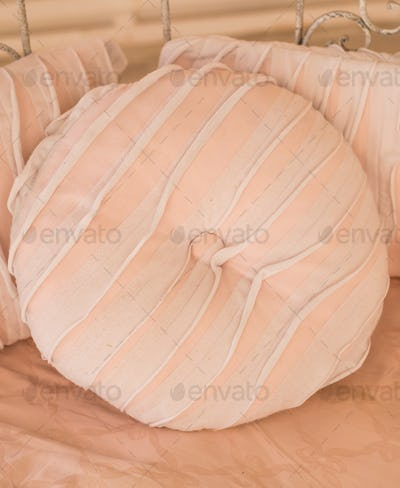 Coral pink pillow
