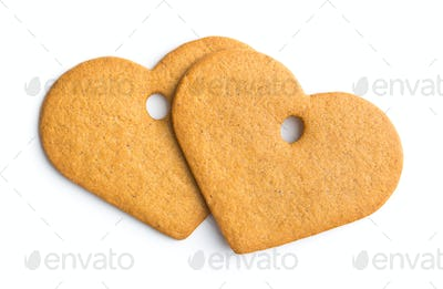 Tasty gingerbread hearts.