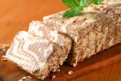 Chocolate flavor halva
