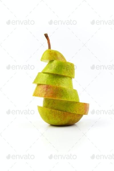 sliced fresh pear