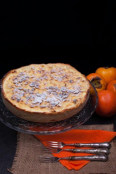 Fresh Baked Persimmon Cake