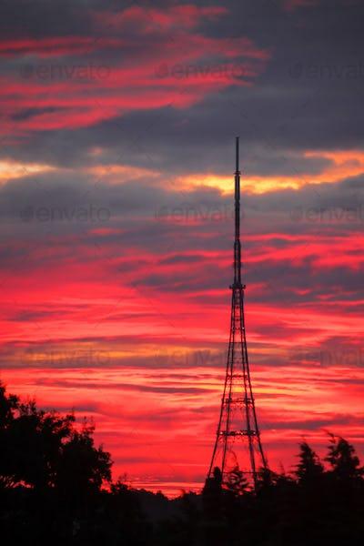 Transmitting Station at sunrise
