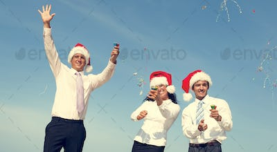 Christmas Santa Hat Business Travel Vacations Concept