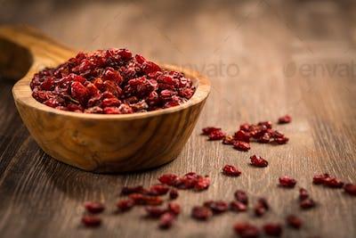 Dried berberis