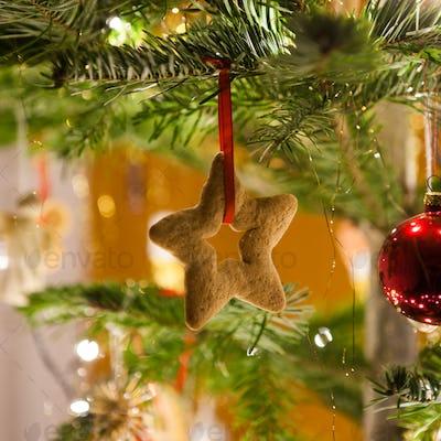 Star shape christmas decoration