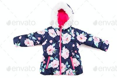 Stylish children's jacket on a white background