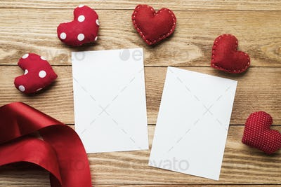 Blank paper for writing message