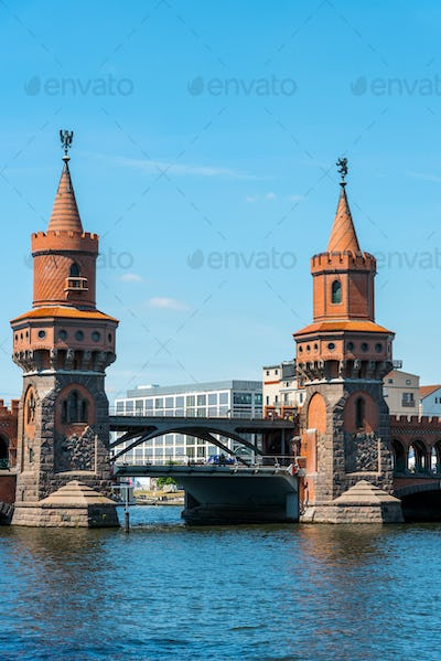 The towers of the Oberbaumbruecke in Berlin