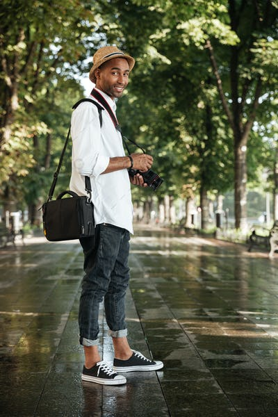 Black man in park