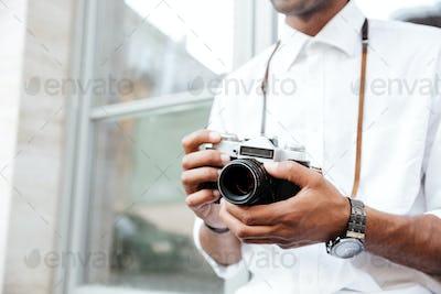 Cropped Image of fashion black man