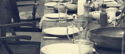 Table Dishware Decor Dinner Concept