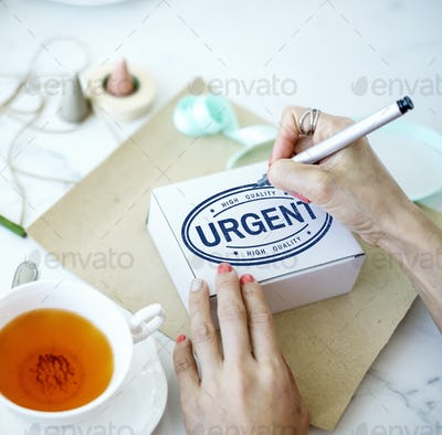 Urgent Important Priority Stamp Word Concept