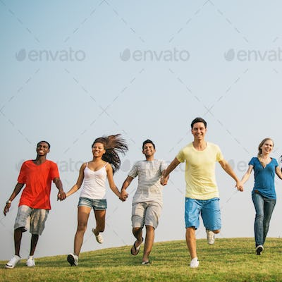Cheerful Community Together Gathering Friends Concept