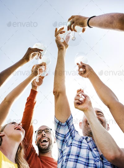 Group OF People Cheers Concept