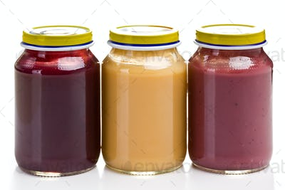 baby food in glass jar