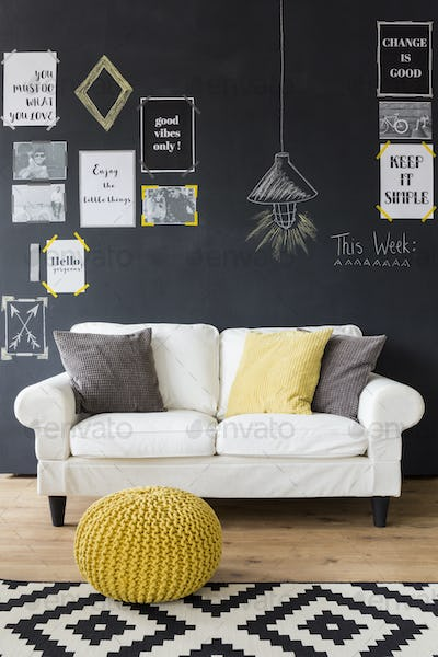 Sophisticated interior with motivational phrases