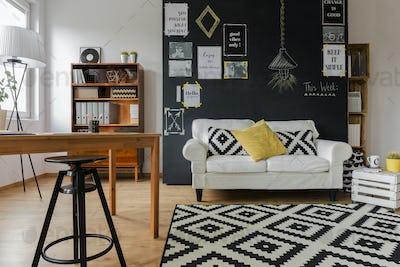 Pleasant interior of contemporary flat