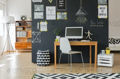 Creative working space with computer