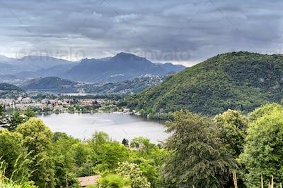 Lake of Lugano at Ponte Tresa