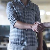 start up business people  handshake
