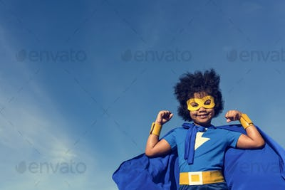 Little Boy Super Hero Concept