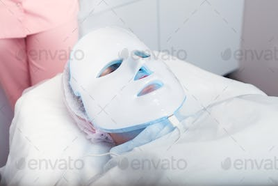 Light therapy of face skin