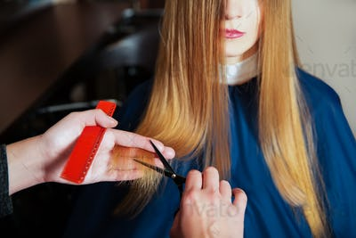 Hairdresser with scissors and comb
