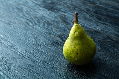 one juicy and ripe pear