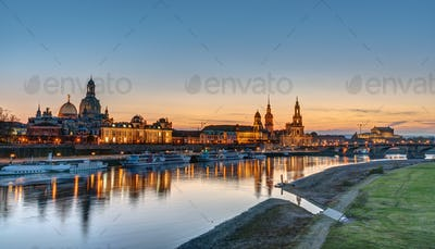 The Towers of Dresden at sunset