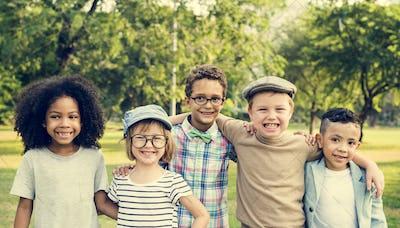 Casual Children Cheerful Cute Friends Kids Joy Concept