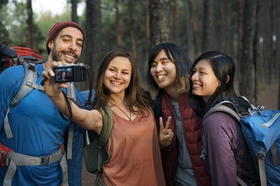 People Friendship Hangout Traveling Destination Trekking Camera