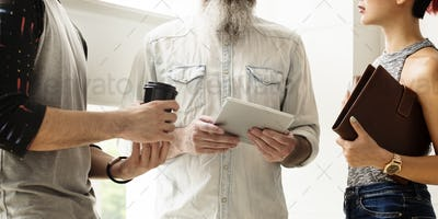 People Friendship Discussion Togetherness Digital Tablet Concept