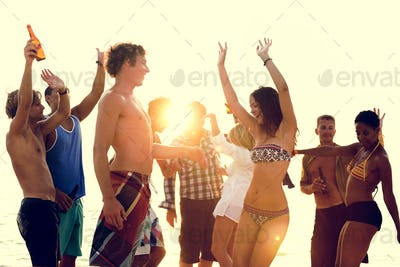 Beach Vacation Enjoying Holiday Relaxation Concept
