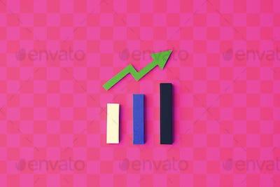 Statistics Strategy Analysis Diagram Information Concept
