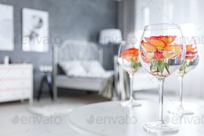 Creative home decor with roses