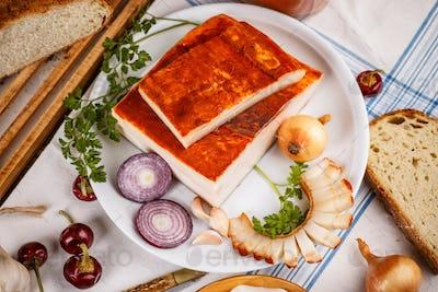 Raw pork lard