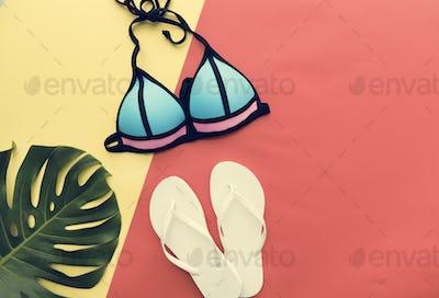 Beach Summer Holiday Vacation Bikini Swimwear Concept