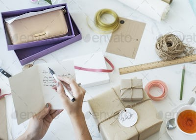Gift Present Sale Trendy Woman Buying Concept