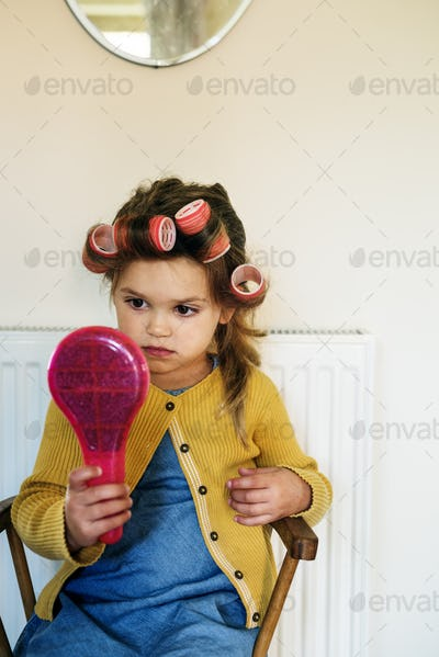 Girl Lifestyle Salon Hairstyle Trendy Concept