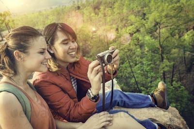 People Friendship Hangout Traveling Destination Trekking Camera