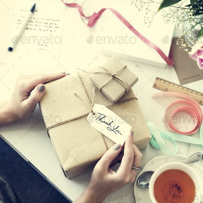 Gift Packing Present Creative Ideas Simplify Concept