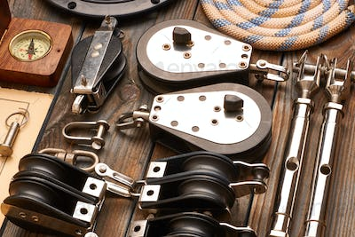 Sailing yacht rigging equipment